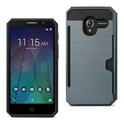 REIKO ALCATEL TRU SLIM ARMOR HYBRID CASE WITH CARD HOLDER IN NAVY