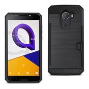 REIKO ALCATEL WALTERS SLIM ARMOR HYBRID CASE WITH CARD HOLDER IN BLACK