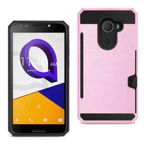 REIKO ALCATEL WALTERS SLIM ARMOR HYBRID CASE WITH CARD HOLDER IN PINK