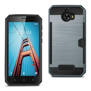 REIKO COOLPAD DEFIANT SLIM ARMOR HYBRID CASE WITH CARD HOLDER IN NAVY