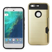 REIKO GOOGLE PIXEL SLIM ARMOR HYBRID CASE WITH CARD HOLDER IN GOLD