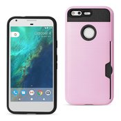 REIKO GOOGLE PIXEL SLIM ARMOR HYBRID CASE WITH CARD HOLDER IN ROSE GOLD