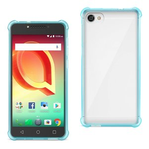 Reiko Alcatel Crave Clear Bumper Case With Air Cushion Protection In Clear Navy