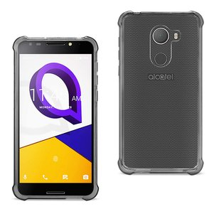 Reiko Alcatel Walters Clear Bumper Case With Air Cushion Protection In Clear Black