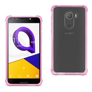 Reiko Alcatel Walters Clear Bumper Case With Air Cushion Protection In Clear Hot Pink
