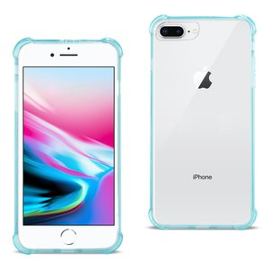 Reiko iPhone 8 Plus Clear Bumper Case With Air Cushion Protection In Clear Navy
