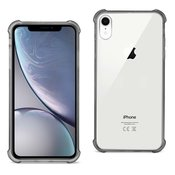 iPhone XR Clear Bumper Case With Air Cushion Protection In Clear Black