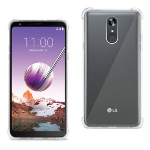Reiko LG Stylo 4 Clear Bumper Case With Air Cushion Protection In Clear