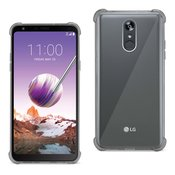 Reiko LG Stylo 4 Clear Bumper Case With Air Cushion Protection In Clear Black