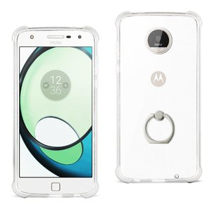 Reiko Moto Albus Transparent Air Cushion Protector Bumper Case With Ring Holder In Clear