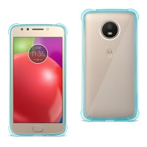 Reiko Motorola Moto E4 Active Clear Bumper Case With Air Cushion Protection In Clear Navy