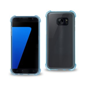 REIKO SAMSUNG GALAXY S7 CLEAR BUMPER CASE WITH AIR CUSHION PROTECTION IN CLEAR NAVY