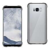 Reiko Samsung Galaxy S8 Clear Bumper Case With Air Cushion Protection In Clear Black
