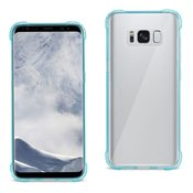 Reiko Samsung Galaxy S8 Clear Bumper Case With Air Cushion Protection In Clear Navy