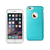 REIKO IPHONE 6 PLUS/ 6S PLUS HYBRID METAL BRUSHED TEXTURE CASE IN BLUE