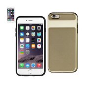 REIKO IPHONE 6S HYBRID SOLID ARMOR BUMPER CASE IN GOLD