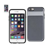 REIKO IPHONE 6S HYBRID SOLID ARMOR BUMPER CASE IN GRAY