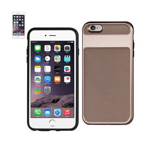 REIKO IPHONE 6S HYBRID SOLID ARMOR BUMPER CASE IN ROSE GOLD