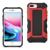 APPLE IPHONE 8 PLUS Slim Shockproof Protective Anti-Slip Heavy duty Case In Black/Red