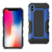 APPLE IPHONE X Slim Shockproof Protective Anti-Slip Heavy duty Case In Black/Blue