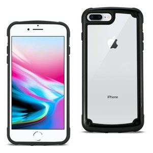 Reiko APPLE IPHONE 8 PLUS Heavy Duty Rugged Shockproof Full Body Case In Black/Clear