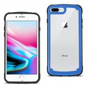 Reiko APPLE IPHONE 8 PLUS Heavy Duty Rugged Shockproof Full Body Case In Blue/Clear
