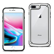 Reiko APPLE IPHONE 8 PLUS Heavy Duty Rugged Shockproof Full Body Case In White/Clear