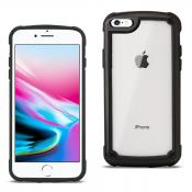 Reiko APPLE IPHONE 8 Heavy Duty Rugged Shockproof Full Body Case In Black/Clear