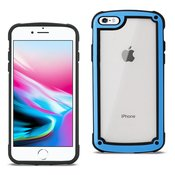 Reiko APPLE IPHONE 8 Heavy Duty Rugged Shockproof Full Body Case In Blue/Clear
