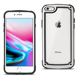 Reiko APPLE IPHONE 8 Heavy Duty Rugged Shockproof Full Body Case In White/Clear