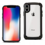 Reiko APPLE IPHONE XR Heavy Duty Rugged Shockproof Full Body Case In Black/Clear
