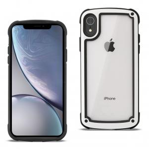 Reiko APPLE IPHONE XR Heavy Duty Rugged Shockproof Full Body Case In White/Clear