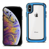 Reiko APPLE IPHONE X Heavy Duty Rugged Shockproof Full Body Case In Blue