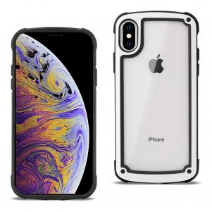 Reiko APPLE IPHONE XS MAX Heavy Duty Rugged Shockproof Full Body Case In White/Clear